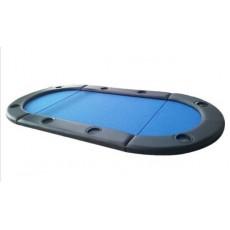 Blat pokerowy 8 stanowisk- niebieski
